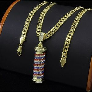 Men Barber shop chain with pendent